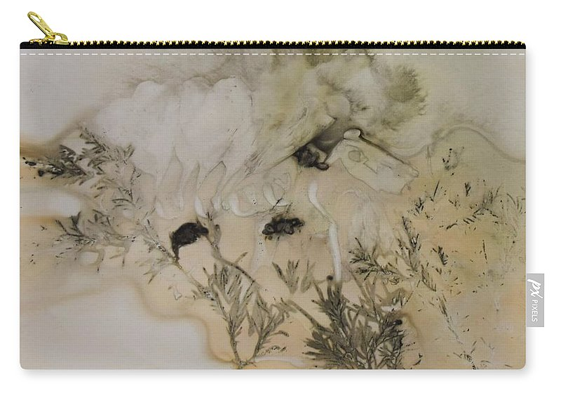 Nature Carry-all Pouch featuring the mixed media Eco print 5 by Charla Van Vlack