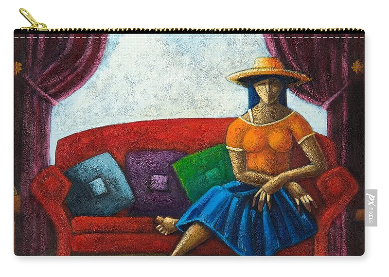 Puerto Rico Carry-all Pouch featuring the painting El Ultimo Romance Del Verano by Oscar Ortiz
