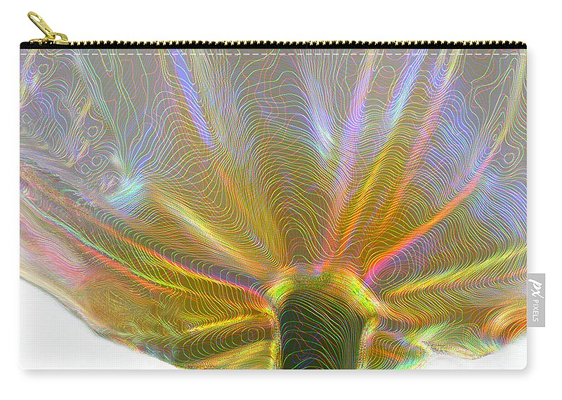 Flowers Carry-all Pouch featuring the photograph Electric Tulip by Linda Sannuti
