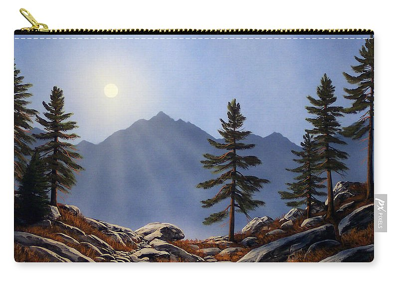 Evening Sun Carry-all Pouch featuring the painting Evening Sun by Frank Wilson