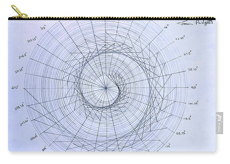 Spiral Carry-all Pouch featuring the drawing Expanding triangle by Jason Padgett