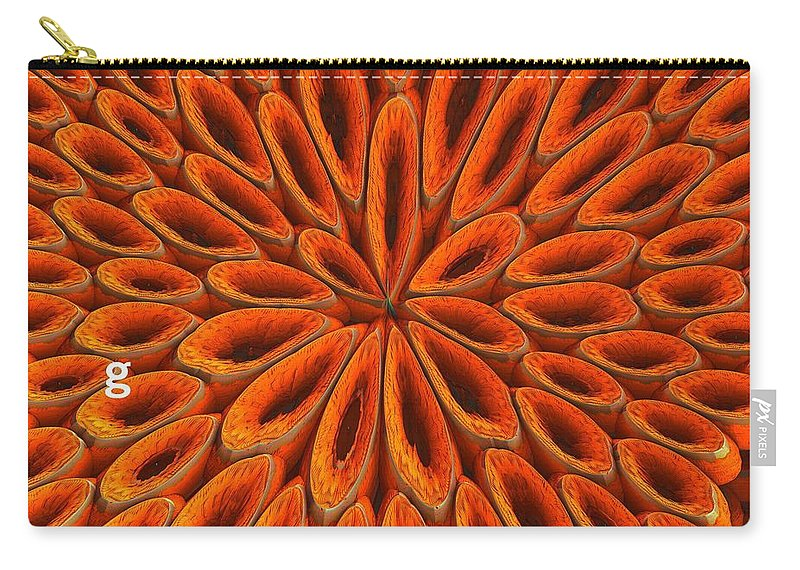 Carry-all Pouch featuring the photograph Face Mask Orange by Getty Images