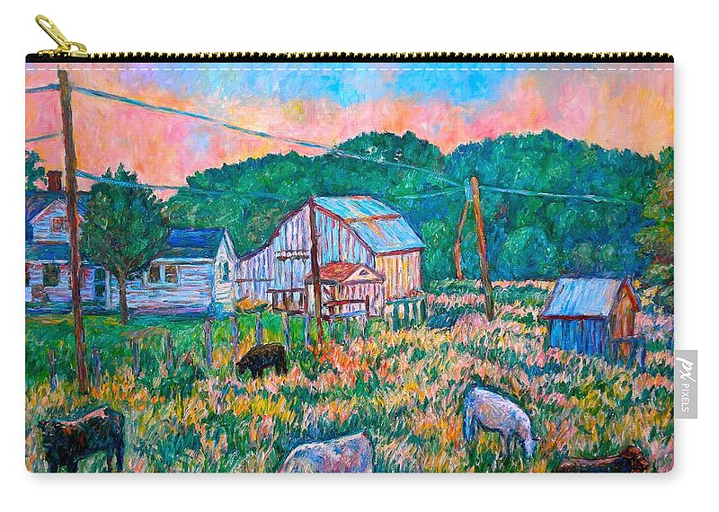 Landscape Carry-all Pouch featuring the painting Farm Near Fancy Gap by Kendall Kessler