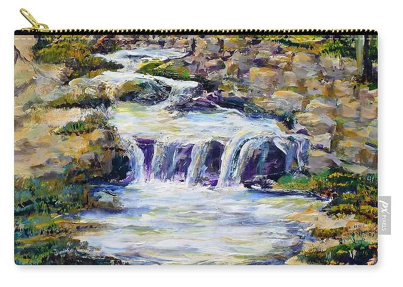 Los Angeles Carry-all Pouch featuring the painting Fern Dell Creek Noon by Randy Sprout