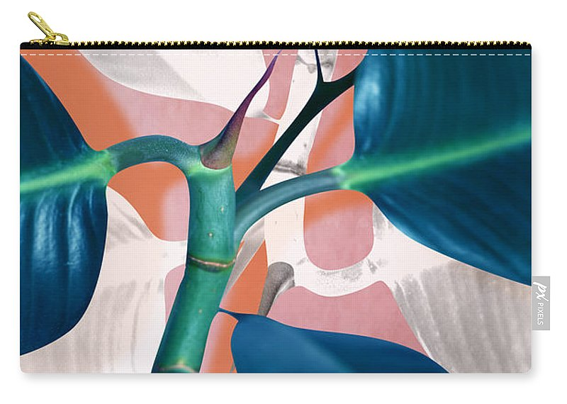 Summer Carry-all Pouch featuring the photograph Ficus elastica 2 by Mark Ashkenazi