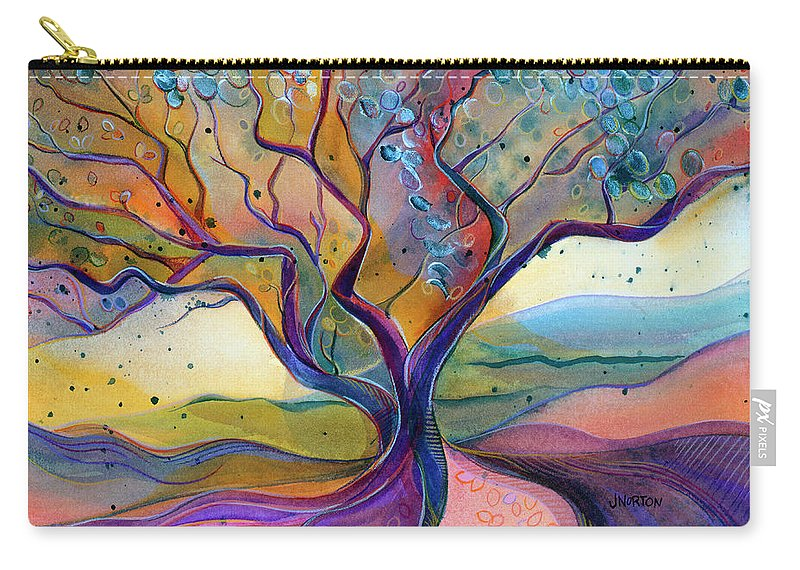 Jen Norton Carry-all Pouch featuring the painting Fiery Manzanita by Jen Norton