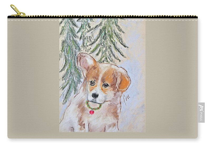 Pastel Carry-all Pouch featuring the drawing First Christmas by Cori Solomon