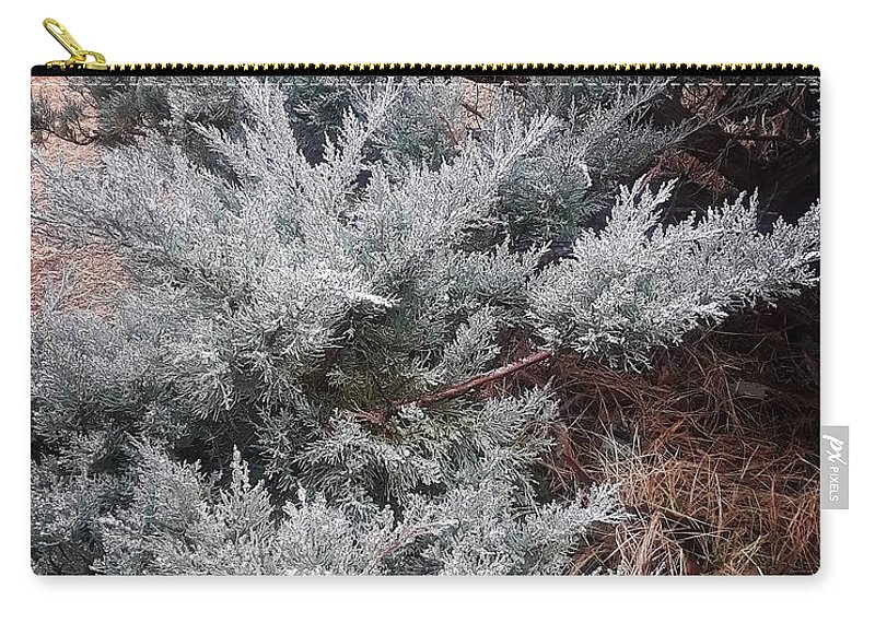 Scenery Carry-all Pouch featuring the photograph First Frost by Ariana Torralba