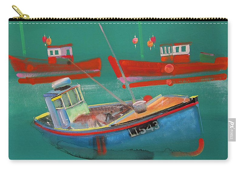 Fishing Carry-all Pouch featuring the painting Fishing Boats at Walberswick by Charles Stuart