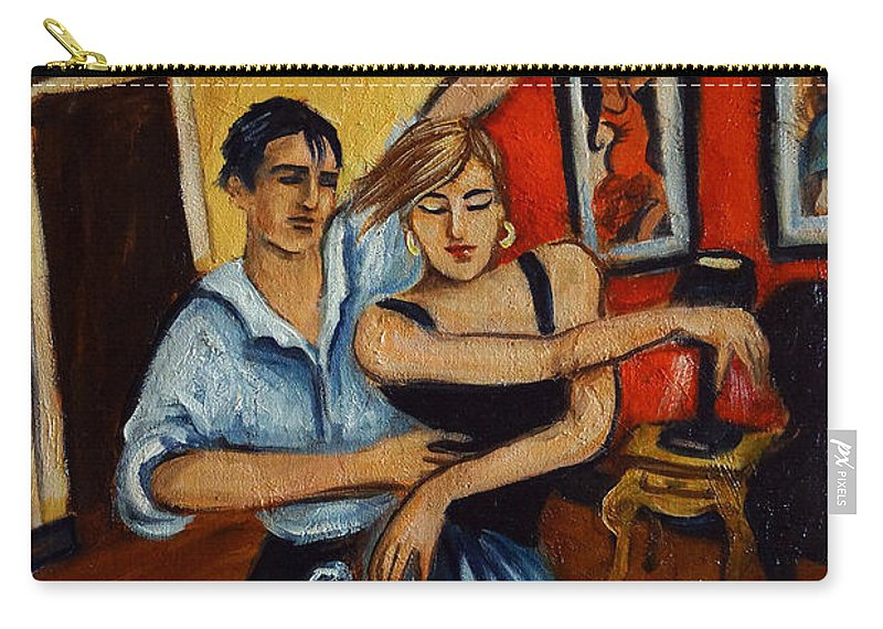 Dancers Carry-all Pouch featuring the painting Flamenco by Valerie Vescovi