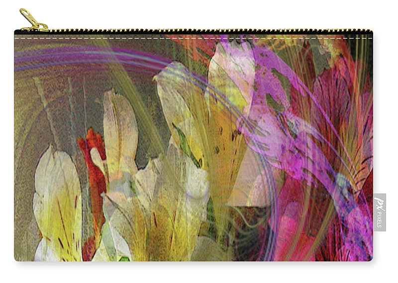 Floral Inspiration Carry-all Pouch featuring the digital art Floral Inspiration by John Robert Beck