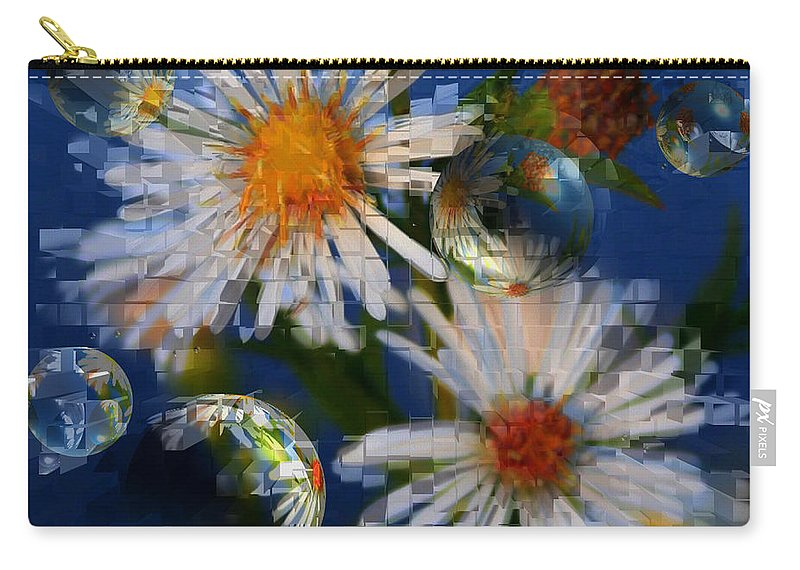 Flowers Carry-all Pouch featuring the photograph Flower World by Linda Sannuti