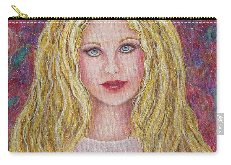 Figurative Art Carry-all Pouch featuring the painting Flowers For You by Natalie Holland