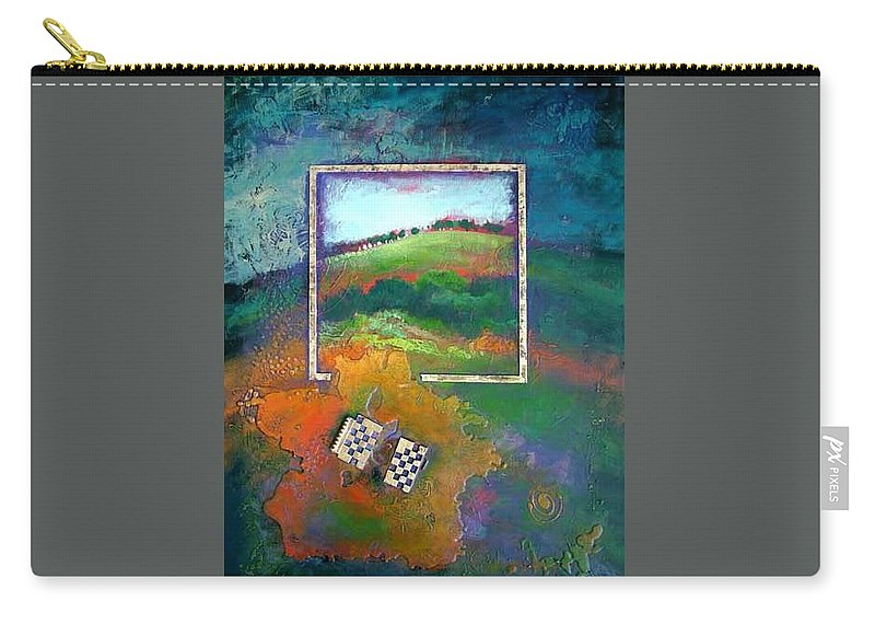 Impressionist Carry-all Pouch featuring the painting Focal point by Farhan Abouassali