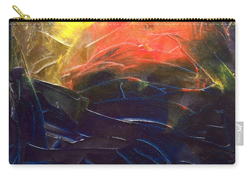 Duck Carry-all Pouch featuring the painting Forest .Part1 by Sergey Bezhinets