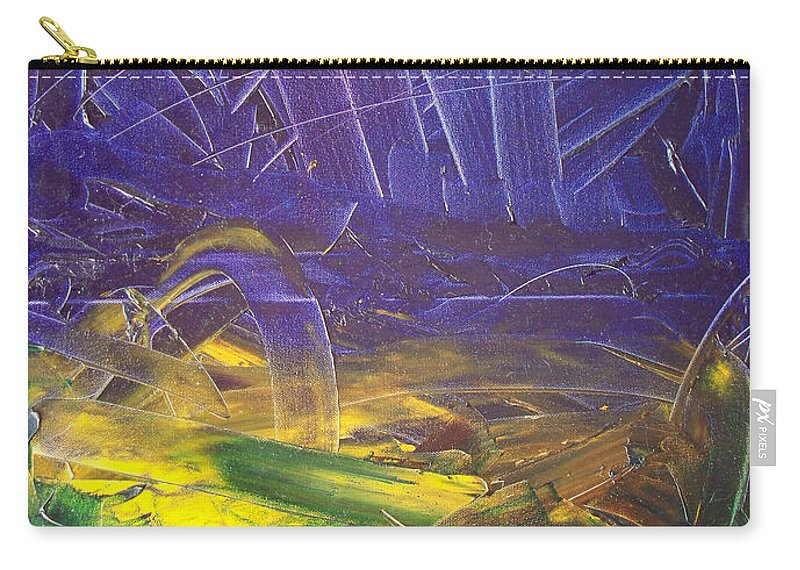 Painting Carry-all Pouch featuring the painting Forest. Part2 by Sergey Bezhinets