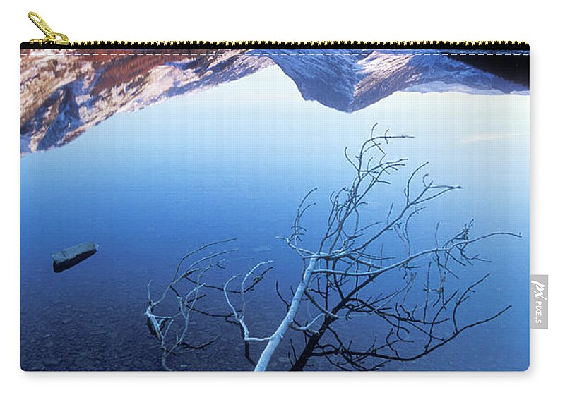 Lake District National Park Carry-all Pouch featuring the photograph Frosty Tree On Buttermere, Lake District, Cumbria, England by Neale And Judith Clark