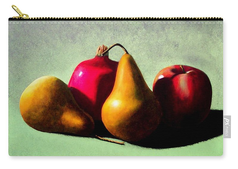 Still Life Carry-all Pouch featuring the painting Fruit Harvest by Frank Wilson