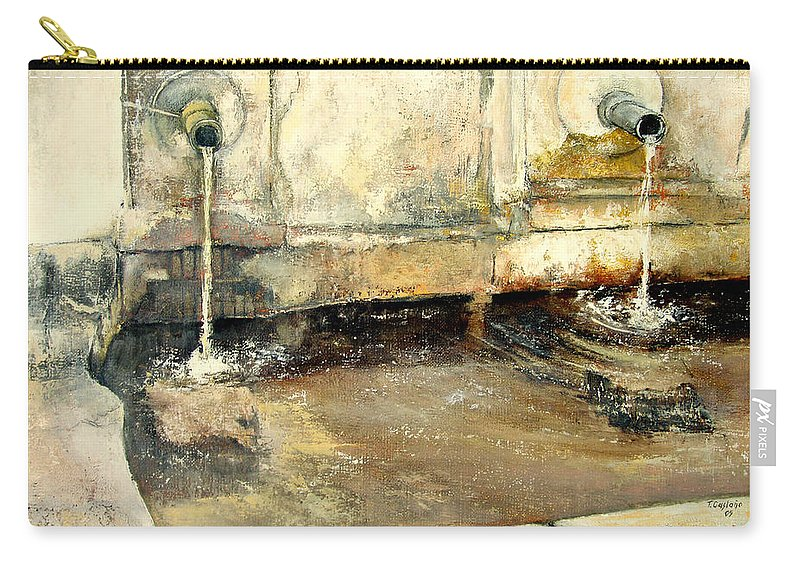 Fuente Carry-all Pouch featuring the painting Fuente by Tomas Castano