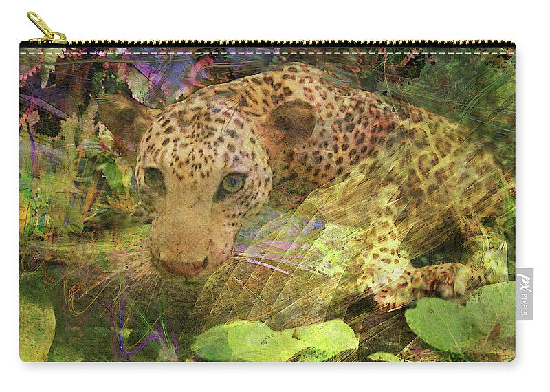 Game Spotting Carry-all Pouch featuring the digital art Game Spotting by John Robert Beck