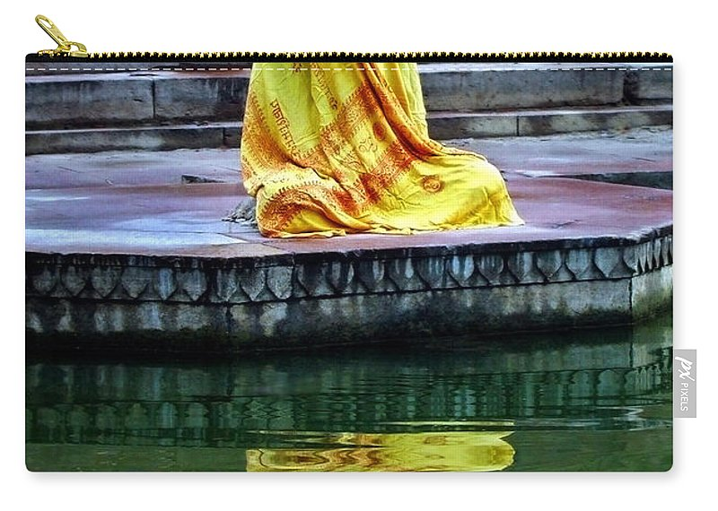 Meditate Carry-all Pouch featuring the photograph Ganga Dream by Skip Hunt