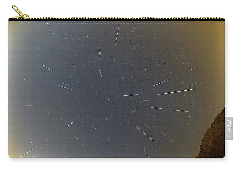 Carry-all Pouch featuring the photograph Geminids Meteor Shower 2020 by Prabhu Astrophotography