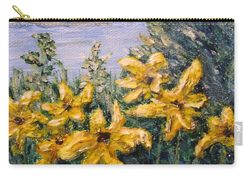 Georgian Bay Carry-all Pouch featuring the painting Georgian Bay Flowers by Ian MacDonald