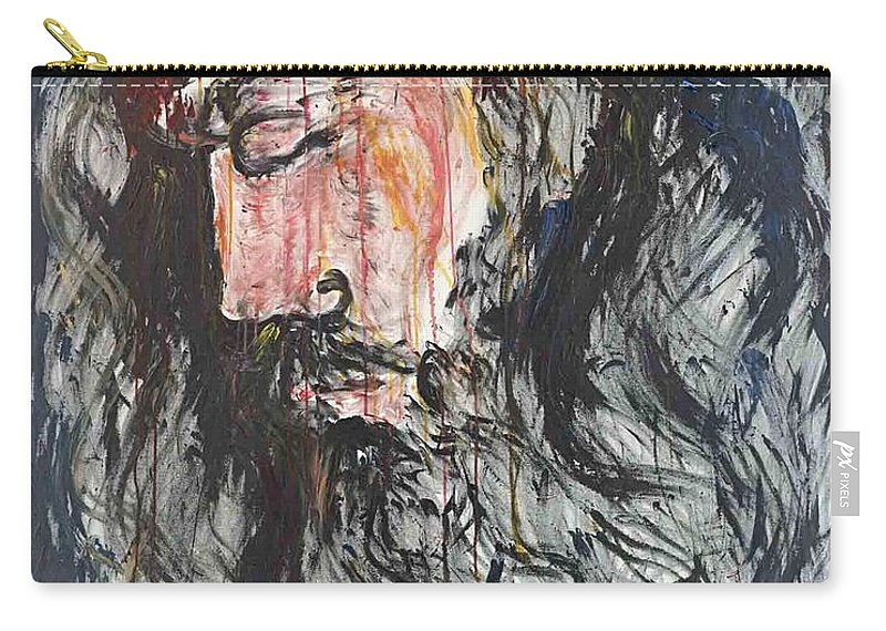 Jesus Carry-all Pouch featuring the painting Gethsemane to Golgotha by Nadine Rippelmeyer