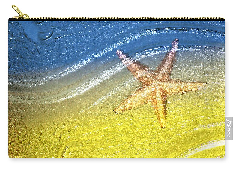 Starfish Carry-all Pouch featuring the photograph Going With the Flow by Holly Kempe