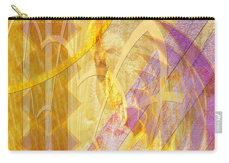 Gold Fusion Carry-all Pouch featuring the digital art Gold Fusion by John Robert Beck