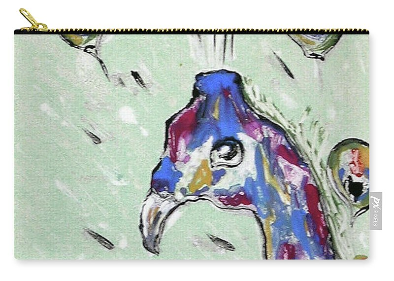 Monotype Carry-all Pouch featuring the mixed media Grand Splendor by Cori Solomon