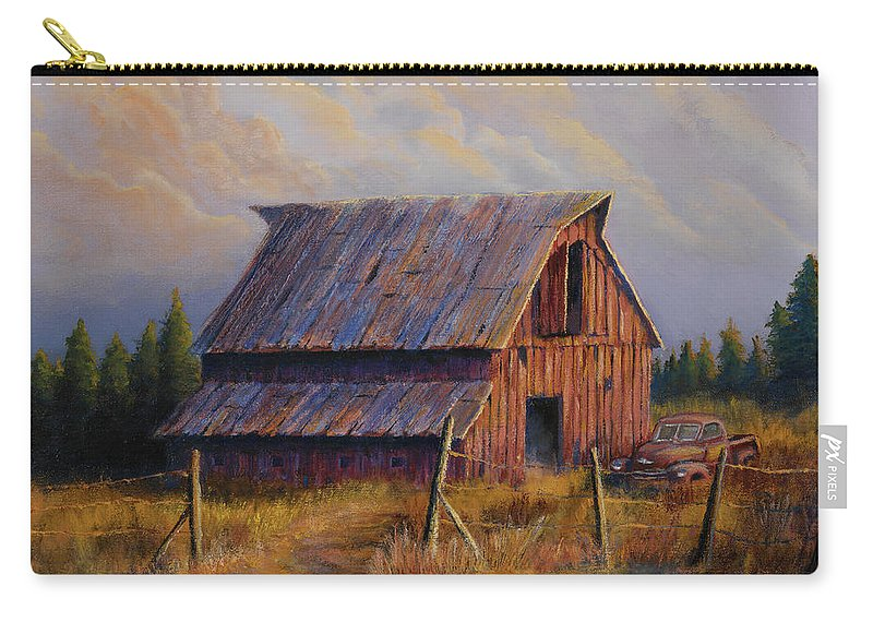Barn Carry-all Pouch featuring the painting Grandpas Truck by Jerry McElroy