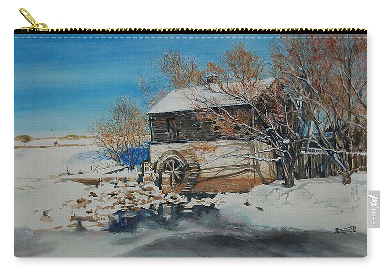 Mill Carry-all Pouch featuring the painting Grants Old Mill by Susan Moore