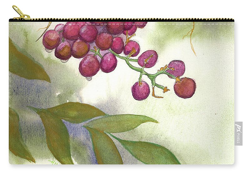 Rick Huotari Carry-all Pouch featuring the painting Grapes Divine by Rick Huotari