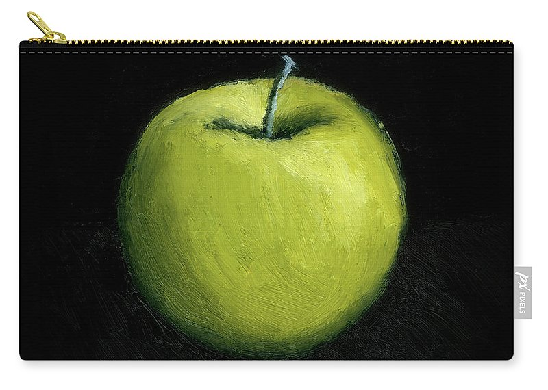 Apple Carry-all Pouch featuring the painting Green Apple Still Life by Michelle Calkins