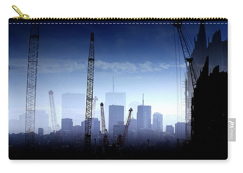 Landscape Carry-all Pouch featuring the photograph Growth in the City by Holly Kempe