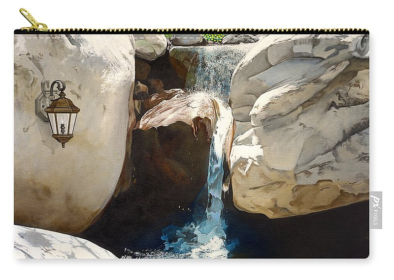 Landscape Carry-all Pouch featuring the painting Guiding Light by Snake Jagger