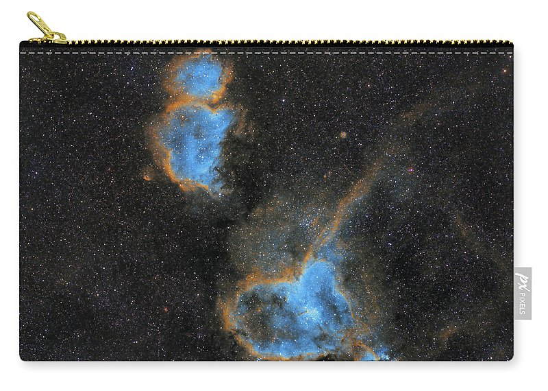 Nebula Carry-all Pouch featuring the photograph Heart and Soul Nebula by Prabhu Astrophotography
