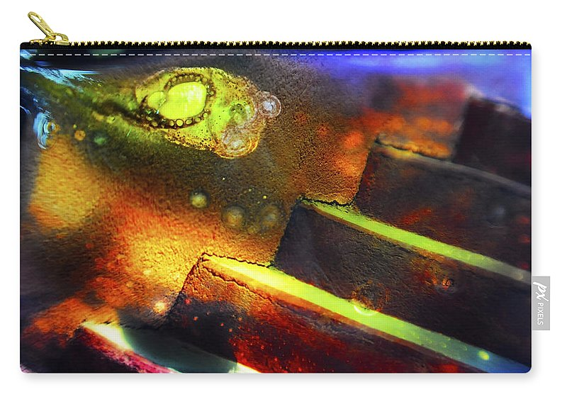 Abstract Carry-all Pouch featuring the photograph Heart of Glass by Skip Hunt