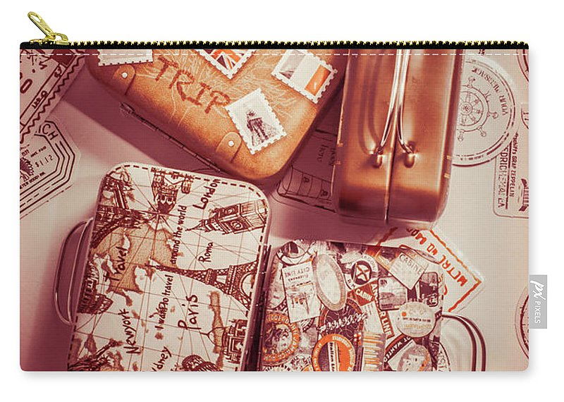 Vintage Carry-all Pouch featuring the photograph Holiday Pact by Jorgo Photography - Wall Art Gallery
