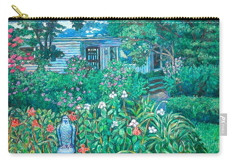Landscape Carry-all Pouch featuring the painting House on Chesterbrook Road in McLean by Kendall Kessler