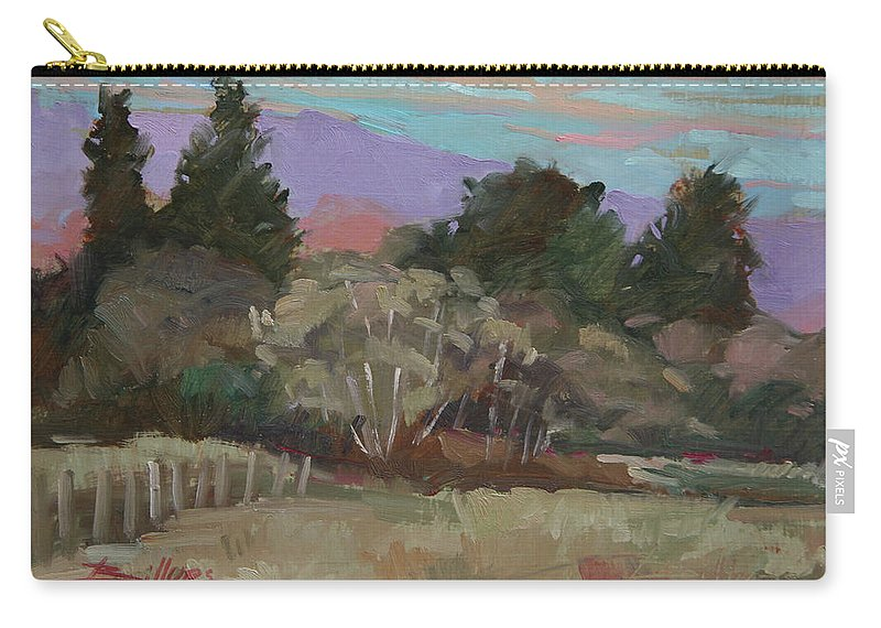 Northern California Carry-all Pouch featuring the painting Humbolt Fields by Betty Jean Billups