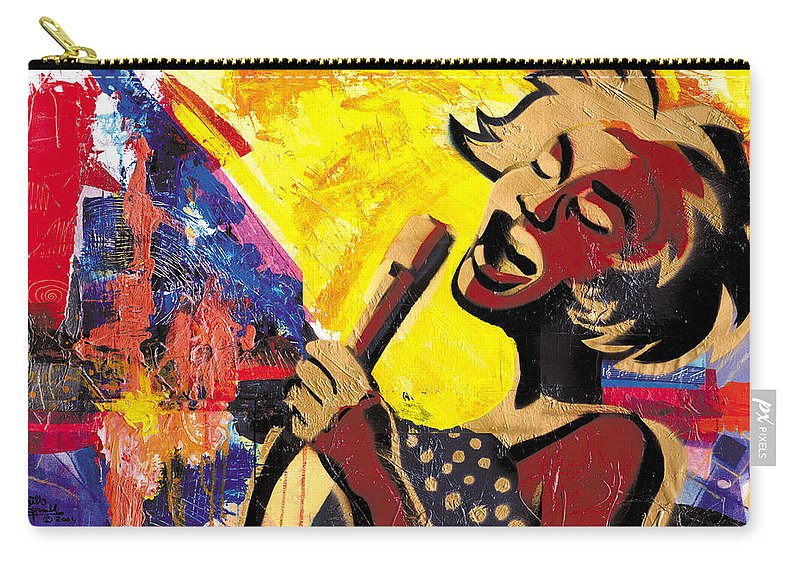 Everett Spruill Carry-all Pouch featuring the painting I Sings Da Blues by Everett Spruill