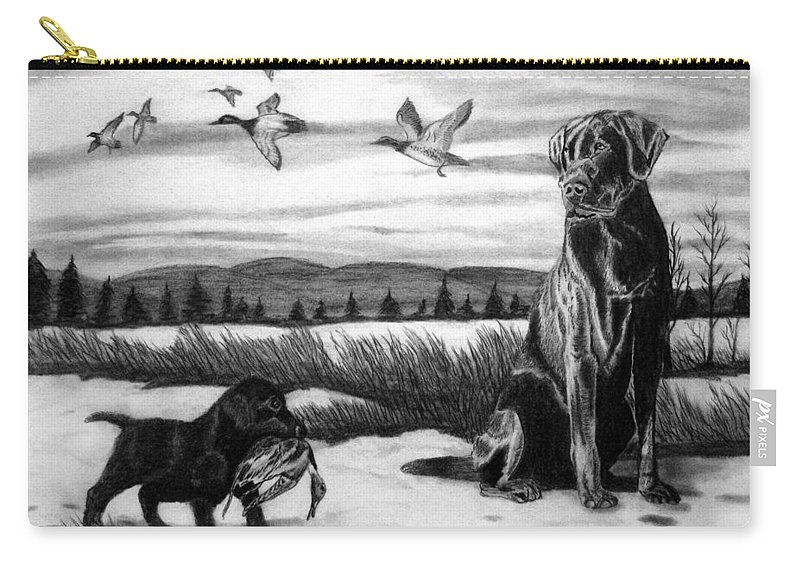 In Training Carry-all Pouch featuring the drawing In Training by Peter Piatt