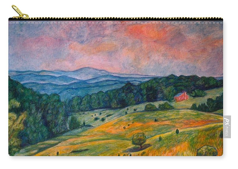 Ingles Mountain Carry-all Pouch featuring the painting Ingles Mountain by Kendall Kessler