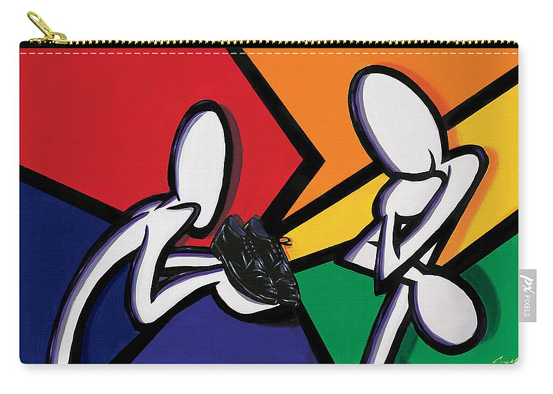 Carey Muhammad Carry-all Pouch featuring the painting Insight by Carey Muhammad