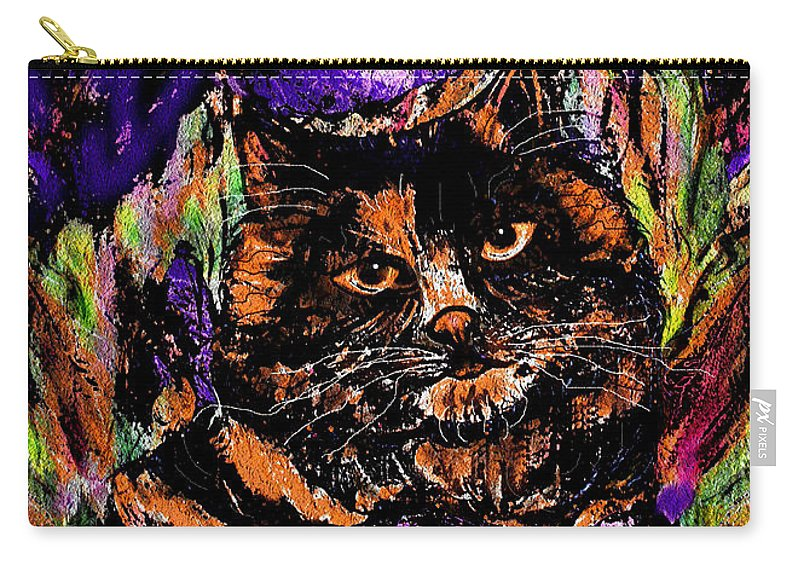 Cat Carry-all Pouch featuring the painting Iris by Natalie Holland
