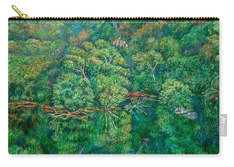 Landscape Carry-all Pouch featuring the painting James River Moment by Kendall Kessler