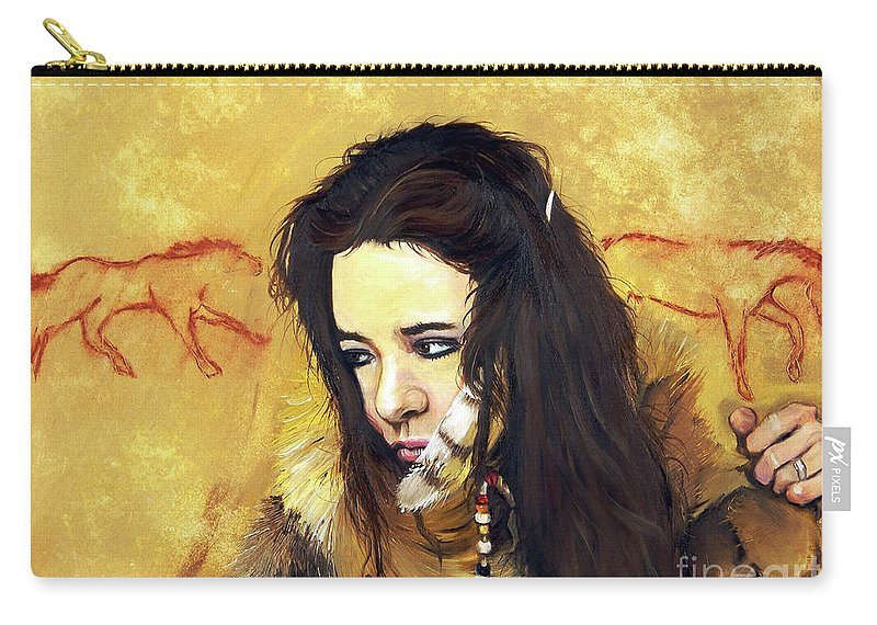 Southwest Art Carry-all Pouch featuring the painting Journey by J W Baker