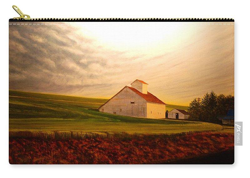 Palouse Carry-all Pouch featuring the painting Kamiak Homestead by Leonard Heid
